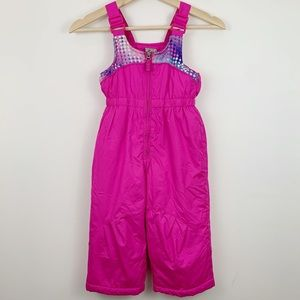 ZeroXposur Girls Snow Pants 2T Pink Overalls Bibs